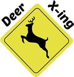 Deer X-ing Print Art