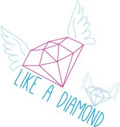 Like A Diamond Print Art