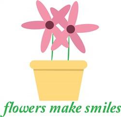 Flowers Make Smiles Print Art