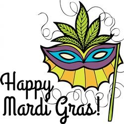 Happy Mardi Gras Print Art