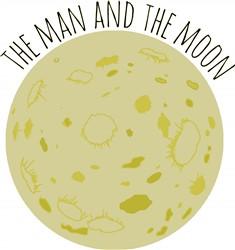 Man And Moon Print Art