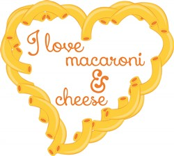 Love Macaroni Print Art