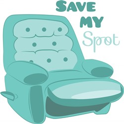 Save My Spot Print Art