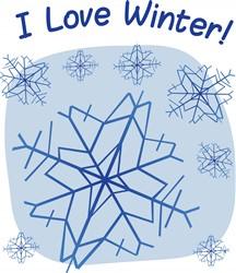 I Love Winter Print Art