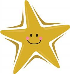 Smiling Star Print Art