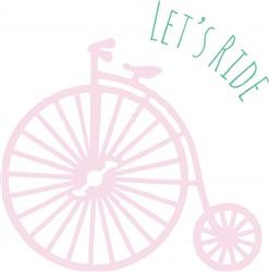 Lets Ride Print Art