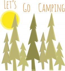 Lets Go Camping Print Art