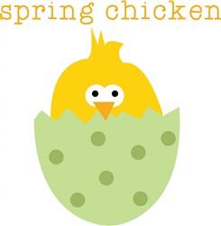 Spring Chicken Print Art