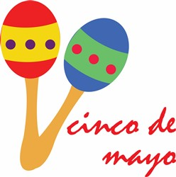 Cinco de Mayo Maracas Print Art