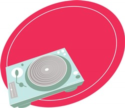 Record Player Print Art