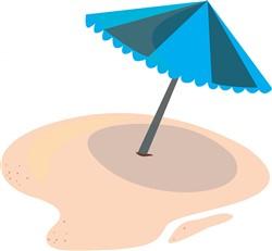 Beach Umbrella Print Art