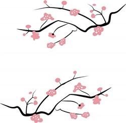 Japanese Cherry Blossoms Print Art