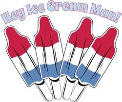 Ice Cream Man Print Art