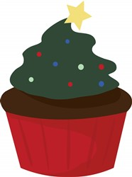 Holiday Cupcake Print Art