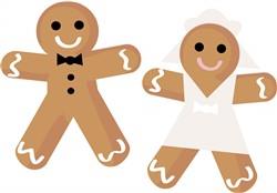 Gingerbread Wedding Print Art