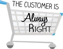 Customer Is Right Print Art