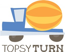 Topsy Turn Print Art