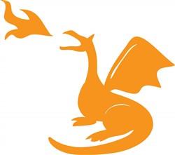 Dragon Breathing Fire Print Art