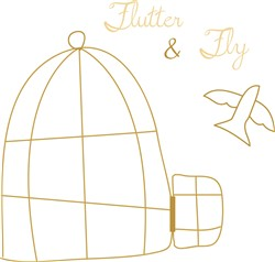 Flutter And Fly Print Art