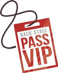 Back Stage Pass Print Art