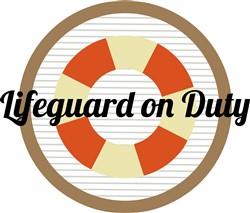 Lifeguard On Duty Print Art