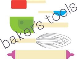 Bakers Tools Print Art