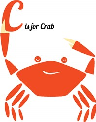 C Is For Crab Print Art