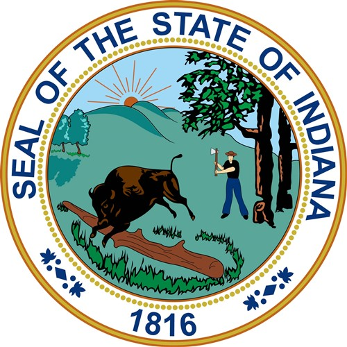 Indiana State Seal Vector Illustration | AnnTheGran