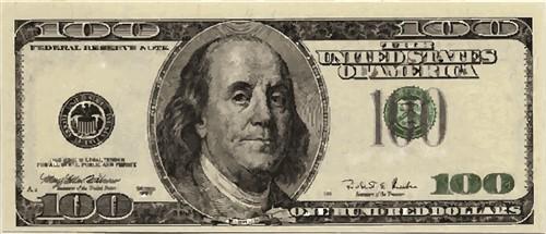 100 dollar bill vector illustration annthegran rh annthegran com Benjamin Franklin 100 Dollar Bill 100 dollar bill back vector