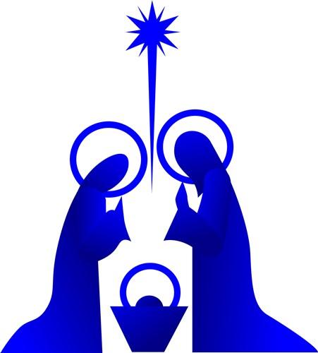 Nativity Silhouette Vector illustration - Christianity Vector Graphics ...