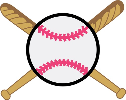 Crossed Baseball Bats Vector Illustration | AnnTheGran