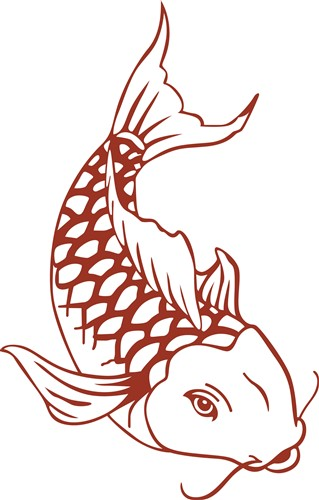 Koi fish outline vector illustration annthegran for Koi fish outline