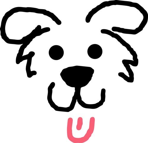 Dog Face Outline Vector Illustration | AnnTheGran - photo#29