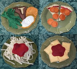 Play Food Dinner Applique