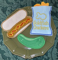 Hot Dog Lunch Applique