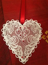Free Standing Lace Valentine Hearts