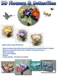 3D Flowers And Butterflies embroidery design pack