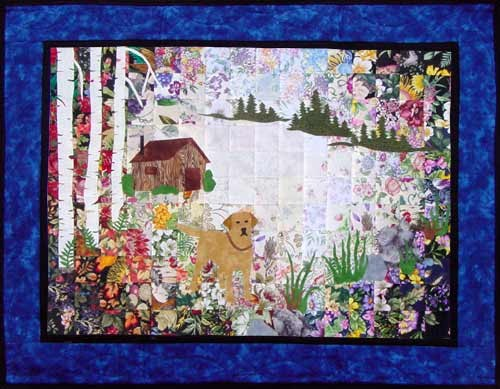 Yellow Lab Watercolor Quilt Kit - Without Border