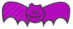 Purple Bat embroidery design