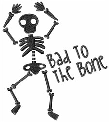 Bone Skeleton embroidery design
