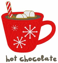 Holiday Hot Chocolate embroidery design
