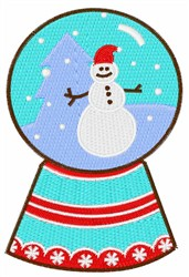 Snowman Snow Globe embroidery design