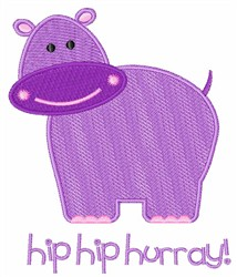 Hip Hip Hooray embroidery design