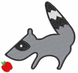 Raccoon With Apple embroidery design