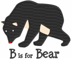 B Is For Bear embroidery design