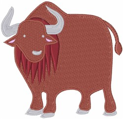 Yak embroidery design