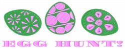 Egg Hunt embroidery design