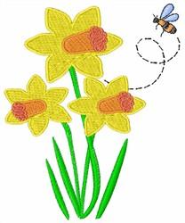 Daffodil embroidery design