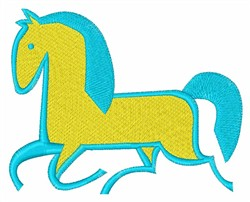 Trotting Horse embroidery design