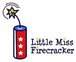 Miss Firecracker embroidery design